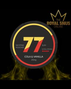 77 Cola & Vanilla Strong, 77 كيس نيكوتين
