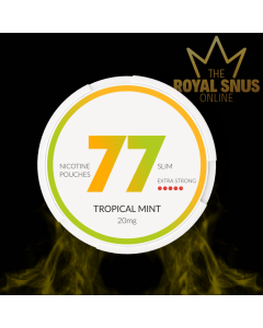 77 Tropical Mint Strong, 77 كيس نيكوتين