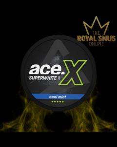 Ace X Super White Cool Mint Slim All White, أكياس النيكوتين إيس