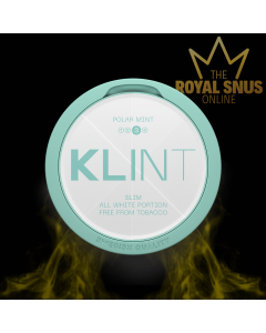KLINT Polar Mint Strong Slim All White, أكياس النيكوتين KLINT