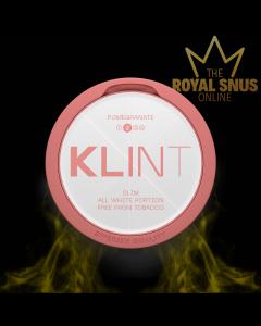 KLINT Pomegranate Slim All White, أكياس النيكوتين KLINT