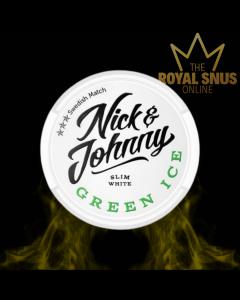 Nick and Johnny Green Ice Slim White