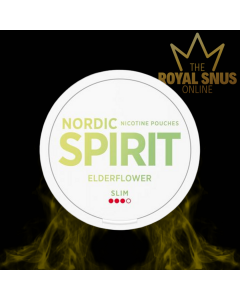 Nordic Spirit Elder Flower Slim All White, أكياس النيكوتين NORDIC SPIRIT