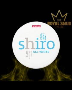 Shiro Cool Mint Strong Slim All White, أكياس النيكوتين SHIRO