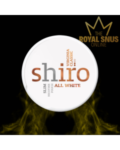 Shiro Virginia Classic Slim All White, أكياس النيكوتين SHIRO