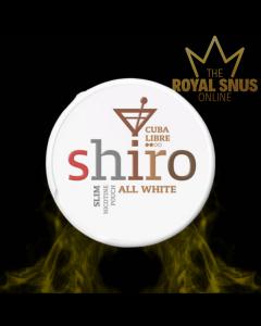Shiro Cuba Libre Slim All White, أكياس النيكوتين SHIRO