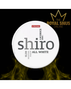 Shiro Licorice Strong Slim All White, أكياس النيكوتين SHIRO