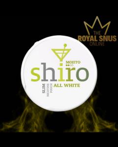 Shiro Mojito Slim All White, أكياس النيكوتين SHIRO