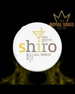 Shiro Pina Colada Slim All White, أكياس النيكوتين SHIRO