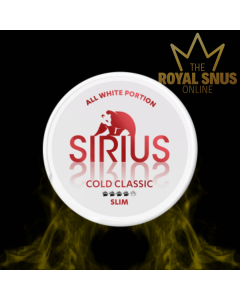 Sirius Cold Classic Slim All White, أكياس النيكوتين سيريوس