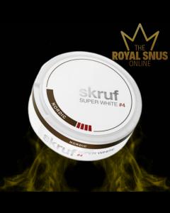 Skruf Super White Nordic #4, أكياس النيكوتين SKRUF SUPER WHITE