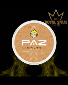 Snubie X PAZ Chai Latte, أكياس النيكوتين Snubie