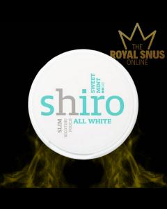Shiro Sweet Mint Slim All White, أكياس النيكوتين SHIRO