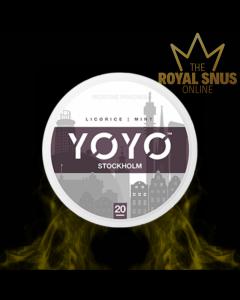 YOYO Stockholm Licorice Mint, أكياس النيكوتين YOYO