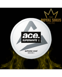 Ace Super White Extreme Cool Slim All White, أكياس النيكوتين إيس