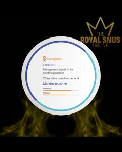Buy OrangeMan Menthol Crush Xtreme, أكياس النيكوتين OrangeMan