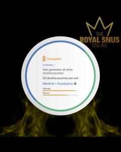 OrangeMan Menthol + Eucalyptus Xtreme, أكياس النيكوتين OrangeMan