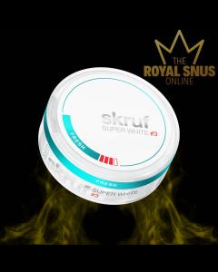 Skruf Super White Slim Fresh #3, أكياس النيكوتين SKRUF الخالية من التبغ