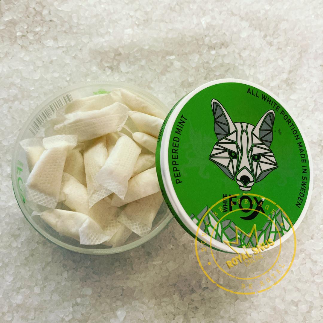 White Fox Peppered Mint Slim All White